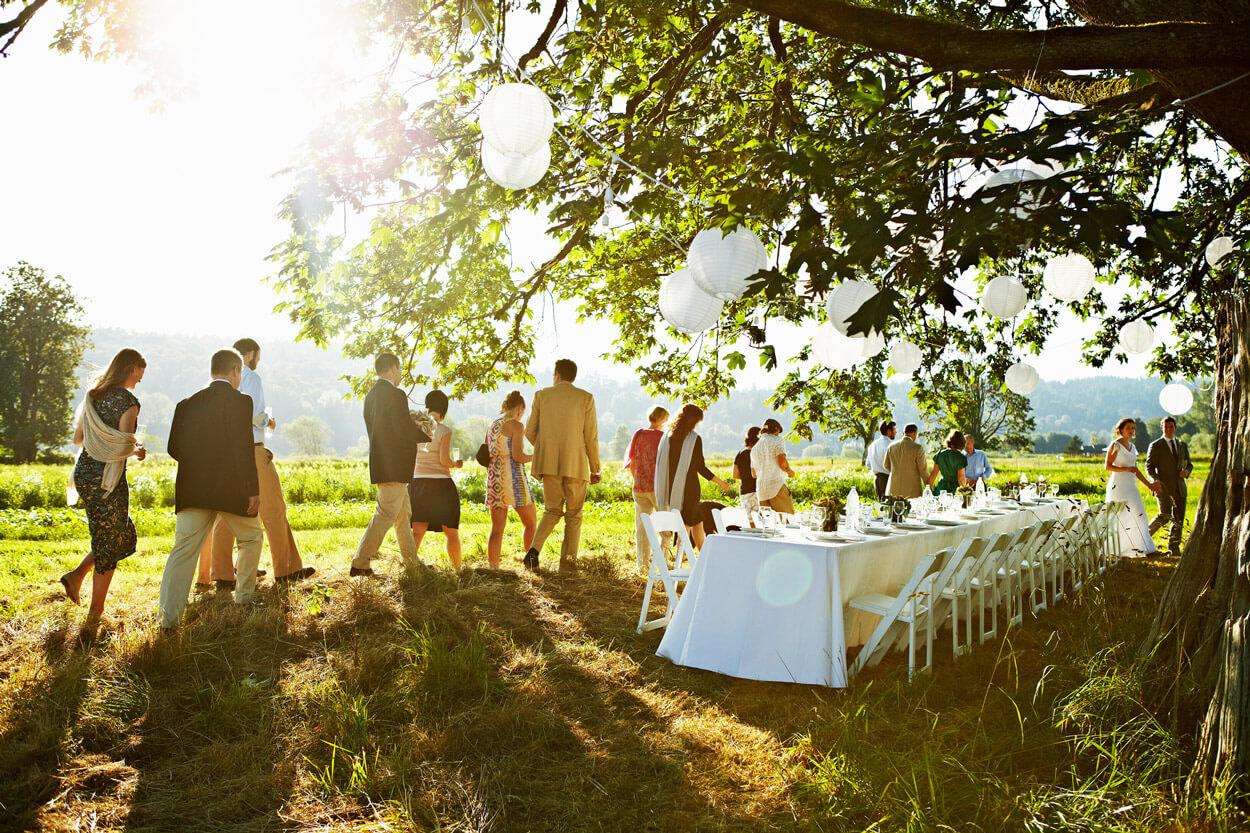 Hochzeit auf einer Farm